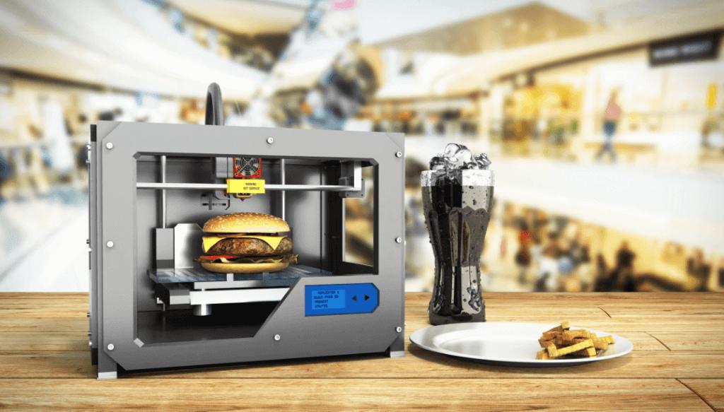 הדפסת תלת מימד טקסט רץ הוצאה לאור הדפסת אוכל