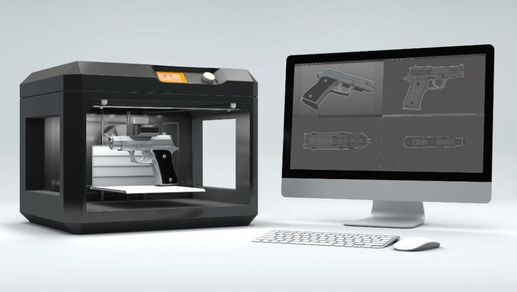 הדפסת תלת מימד טקסט רץ הוצאה לאור הדפסת נשק