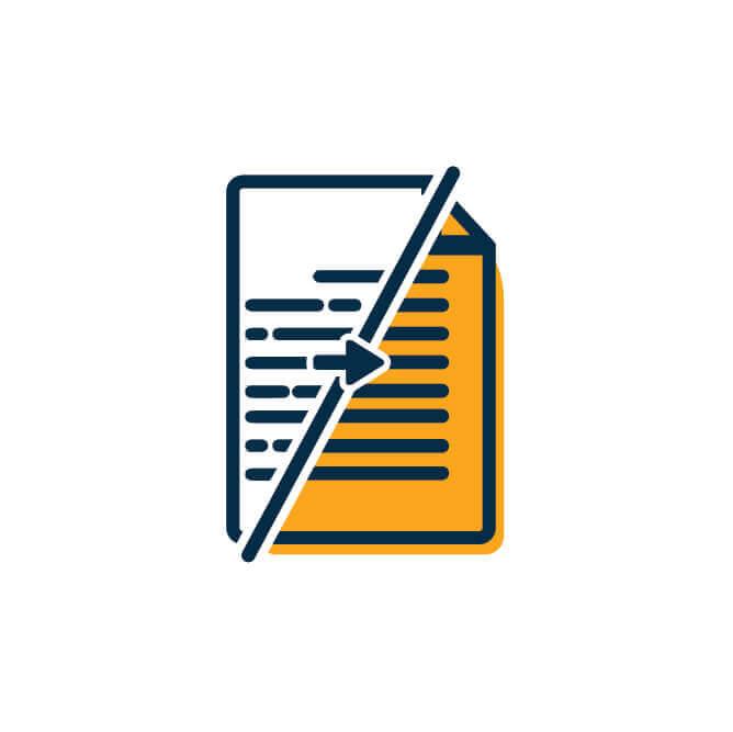 המרת טקסטים - שלב 04 בשלבי הוצאת ספרים | טקסט רץ