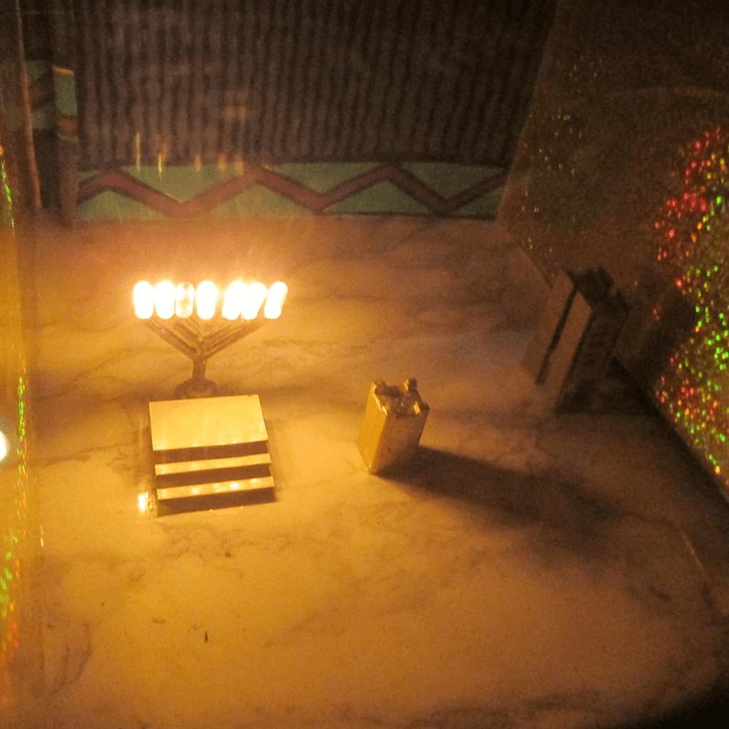 המנורה - ספר בית חיינו מאיר טביב בית המקדש השני שרטוטים וצילומים